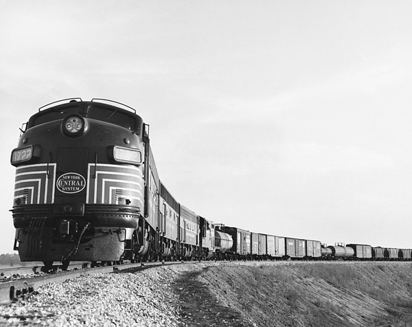 Historic Photograph - Historic Freight Train by Omikron