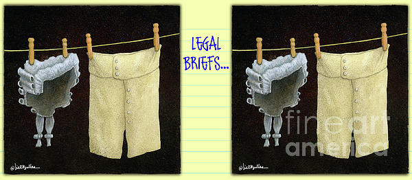 Will Bullas Painting - Legal Briefs... by Will Bullas