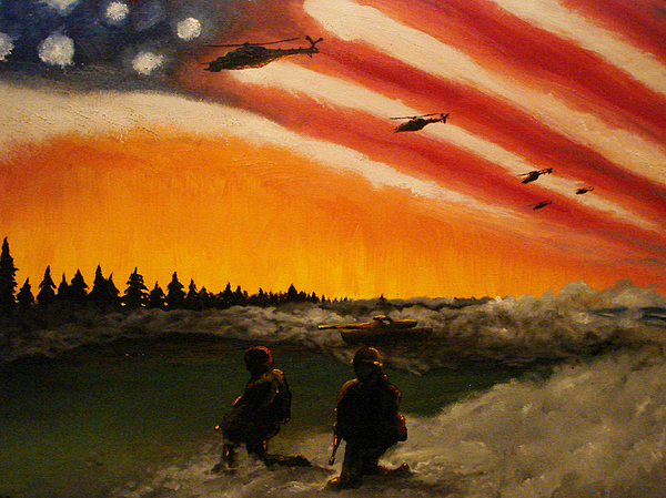 Marine Corps Painting - Marines by Josh Burns