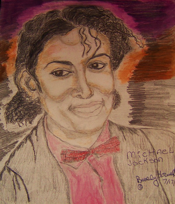 Michael Jackson Greeting Card - Michael by Beverly Howell