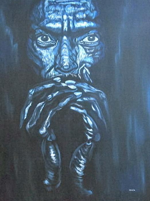Portrait Painting - Miles by Shahid Muqaddim