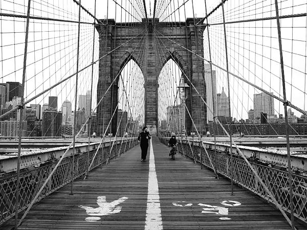 Ny Photograph - Nyc Brooklyn Bridge by Nina Papiorek