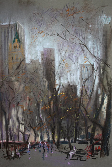 Ny City Pastel - Nyc Central Park by Ylli Haruni