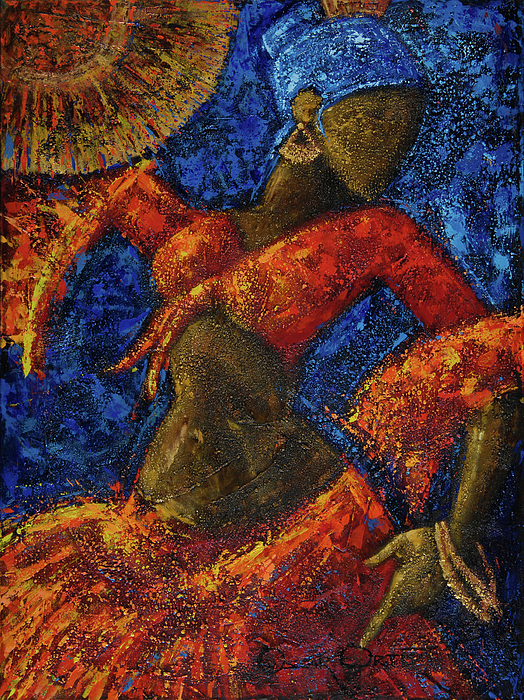 Dancer Painting - Passion by Oscar Ortiz
