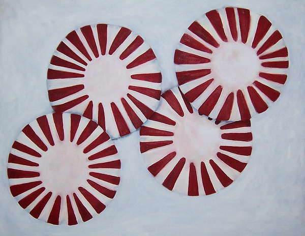 Peppermint Painting - Peppermint Twist by Penny Everhart