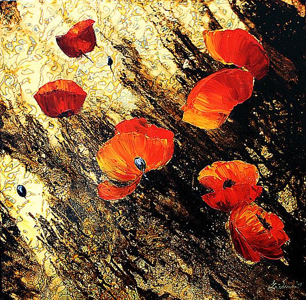 Poppy Painting by Nelu Gradeanu