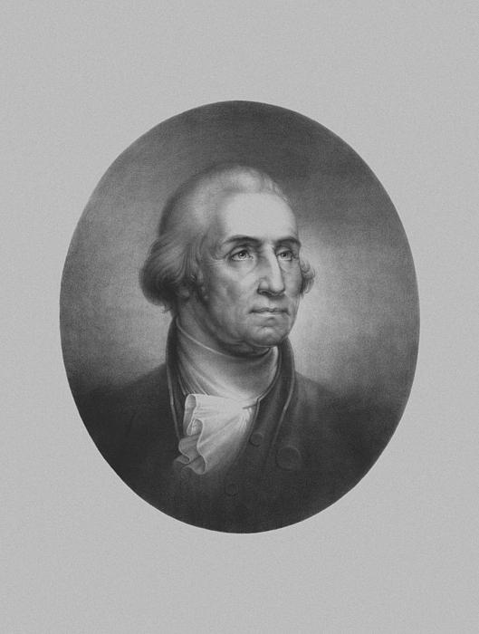 George Washington Mixed Media - President George Washington by War Is Hell Store
