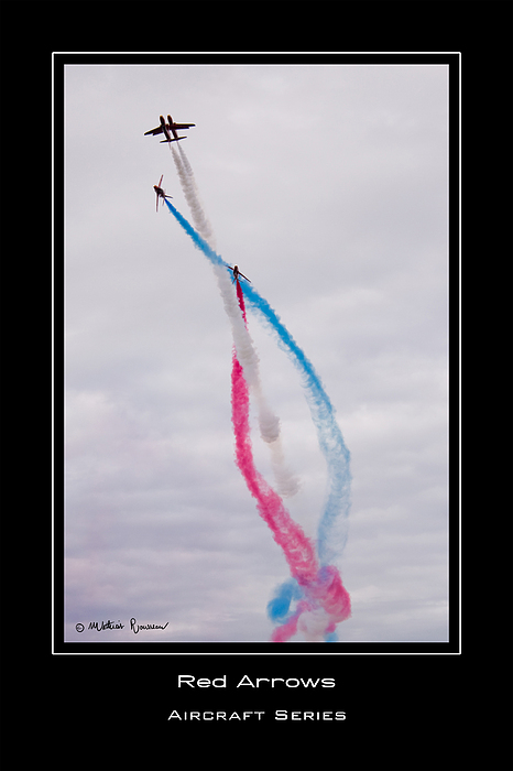 Red Arrows Photograph - Red Arrows by Mathias Rousseau