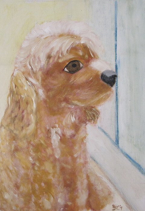 Dog Painting - Rusty Aka Digger Dog by Patricia Cleasby