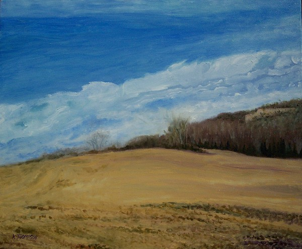 Landscape Painting - Shakertown 2 by Karen Thompson