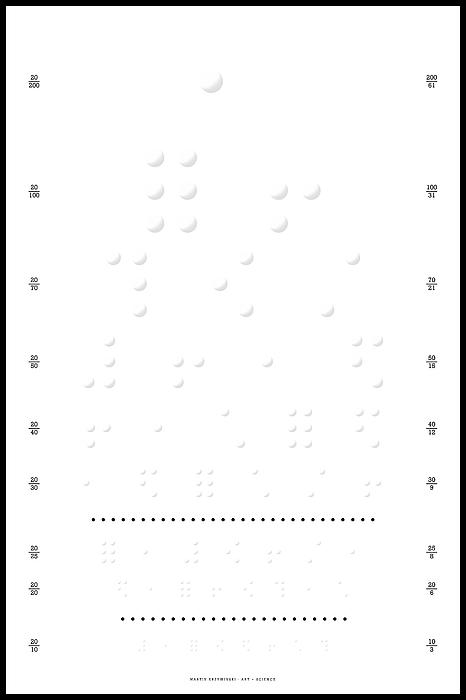 Snellen Chart Digital Art - Snellen Chart - Braille by Martin Krzywinski