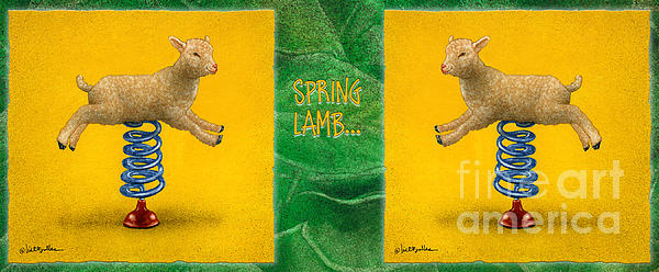 Will Bullas Painting - Spring Lamb... by Will Bullas