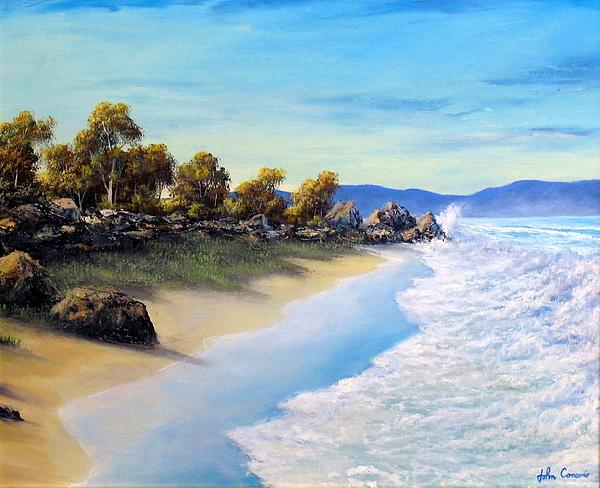 Beach Painting - Surf Surge by John Cocoris