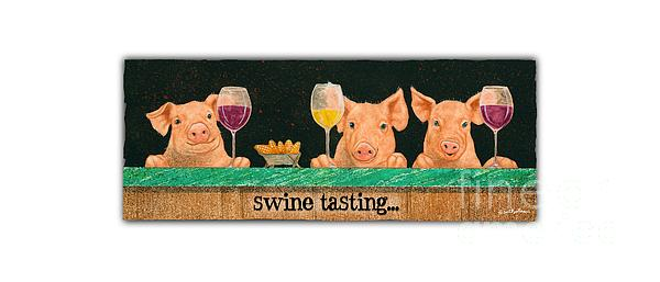 Will Bullas Painting - Swine Tasting... by Will Bullas