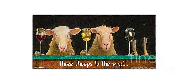 Will Bullas Painting - Three Sheeps To The Wind... by Will Bullas