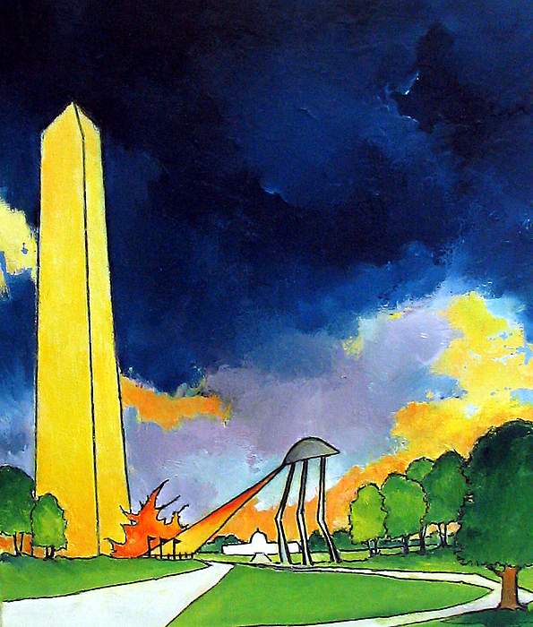 Fantasy Artwork Painting - Tripod In D.c. by James Smith