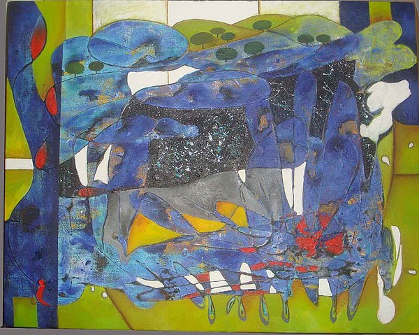 Abstract Painting Painting - Untitled by Daisy Bandha