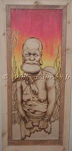 Pyrography Mixed Media - Untitled by William Burton Jr