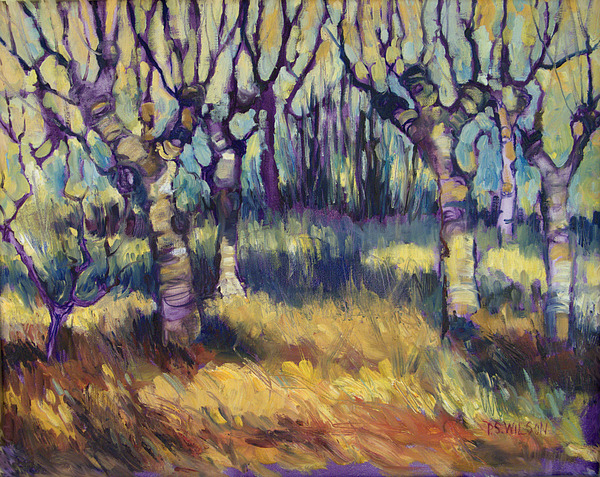 Orchard Painting - Van Goghs Orchard by Peggy Wilson