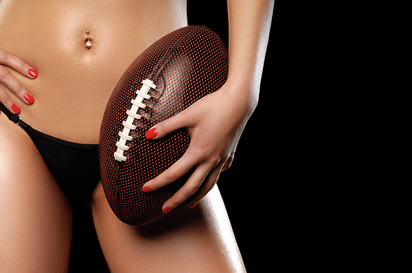 Football Photograph - Woman With A Football by Oleksiy Maksymenko