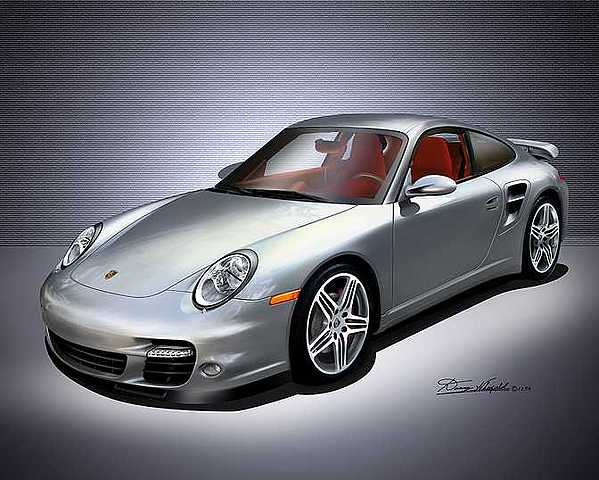 Muscle Cars Mixed Media - 2007 Porsche  911 Turbo by Danny Whitfield