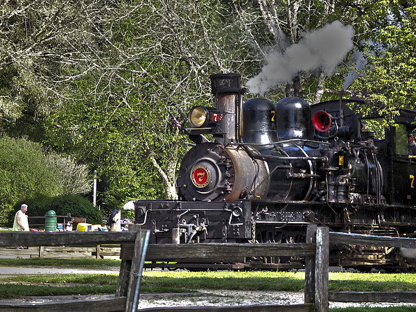 Landscape Photograph - 267 - Roaring Camp Train No 7 Hdr by Chris Berry