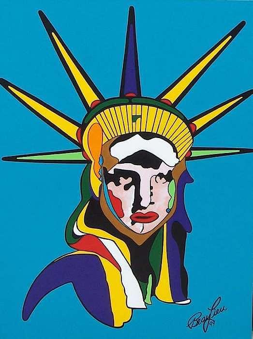 Painting Painting - Liberty by Richard Beau Lieu