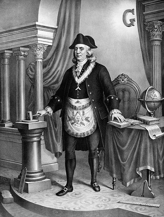 1896 Photograph - Benjamin Franklin (1706-1790) by Granger