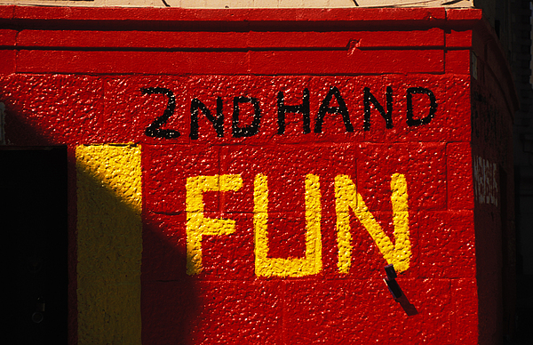 Red Brick Wall Photograph - 2nd Hand Fun by Carl Purcell