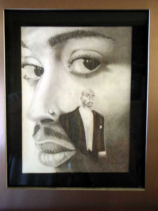 2pac Drawing by Kyle Adamache