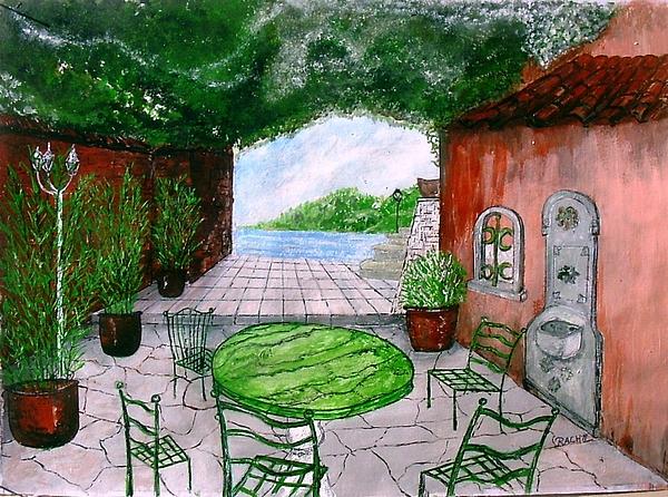 Landscape Painting - a la Provence by KlausJuergen Rach