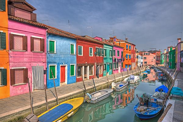 Architecture Photograph - Burano - Venice - Italy by Joana Kruse