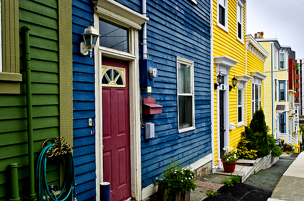 Houses Photograph - Colorful Houses In St. Johns by Elena Elisseeva