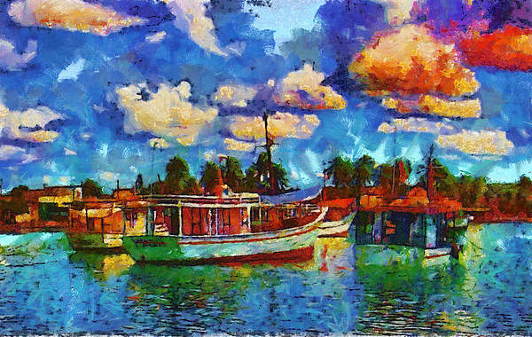 Fishing Boats Photograph - Fishing Boats by Galeria Trompiz