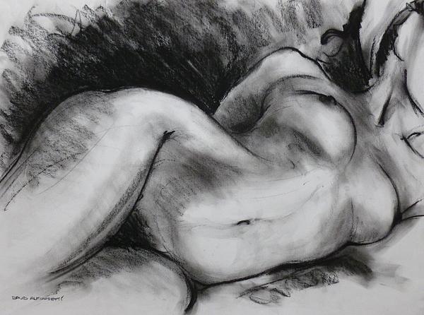 Nude Drawing - Life Drawing by David Alfonsetti