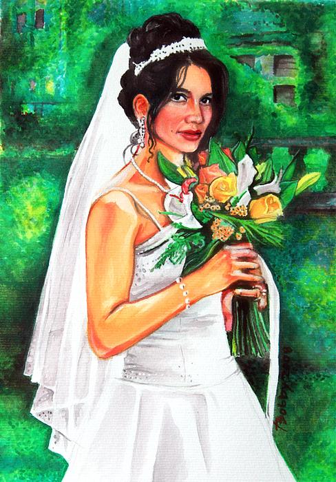 Portraits Painting - Meg by Bobby Barredo