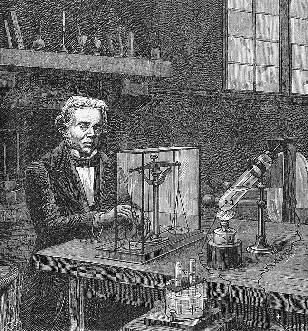 19th Century Photograph - Michael Faraday (1791-1867) by Granger
