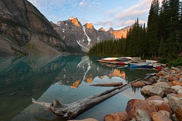 Canada Photograph - Moraine Lake by Bernard Chen