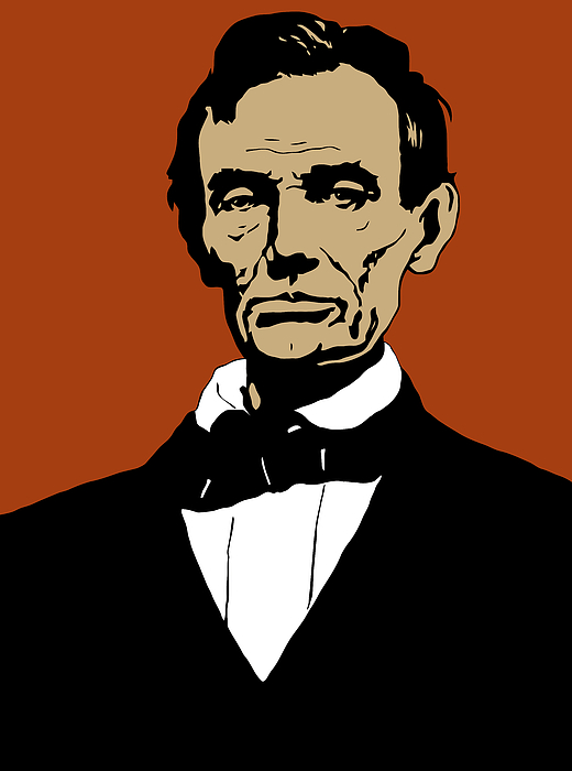 Abraham Lincoln Mixed Media - President Lincoln by War Is Hell Store