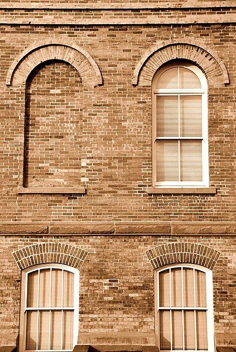 Architecture Photograph - 3 Quarters Sepia by Caroline Clark