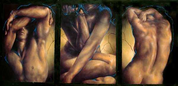 3 Studio Studies Painting by Eszter Csaki