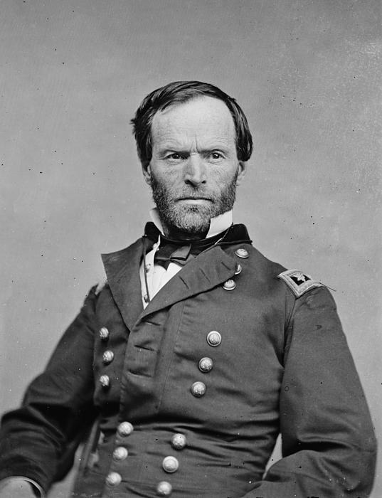 1860s Photograph - The Civil War. General William Tecumseh by Everett