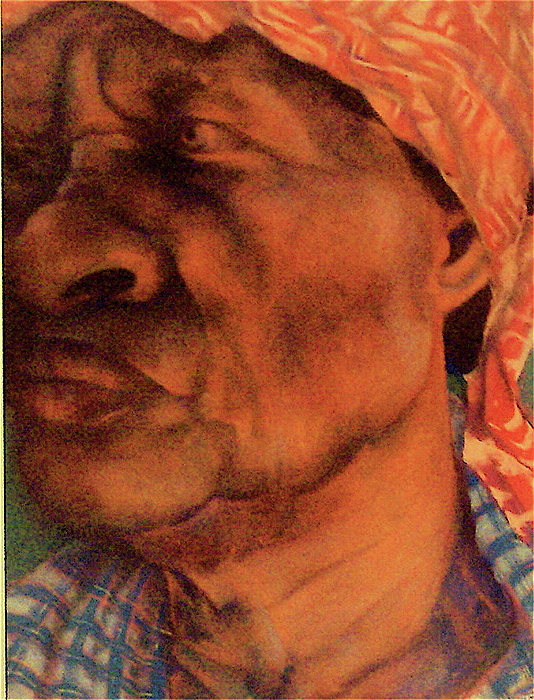 Pastels Pastel - The Gaze Of Mother Witt by Curtis James