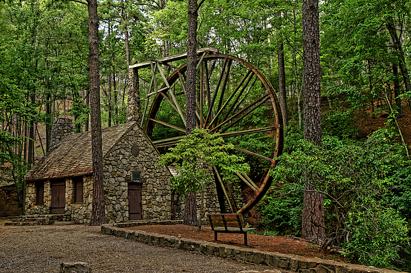 Berry College Photograph - Water Wheel In Hdr by Jason Blalock