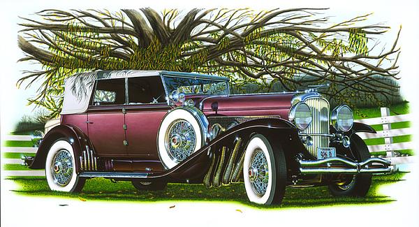 Cars Painting - 31 Duesenberg by Hugo Prado