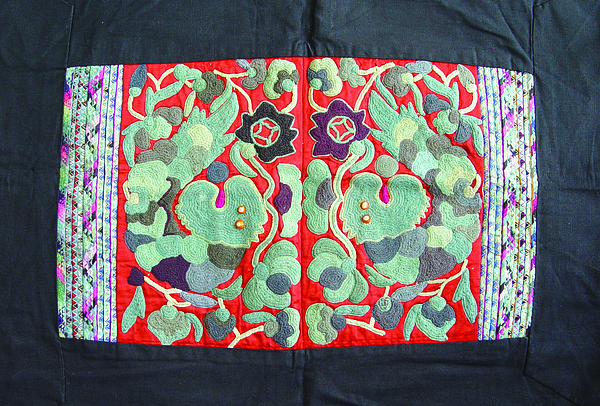 Embroidery Tapestry - Textile - Miao Costumes by He Hong