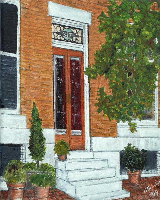 Warren Street Painting - 347 Warren by John Schuller