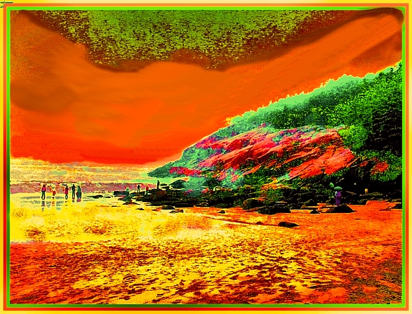 Colorful Landscape Painting - 34g   Beach After A Storm by Ed Immar
