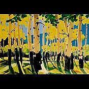 Aspen Trees Print - Arizona Aspens by Diana Madaras