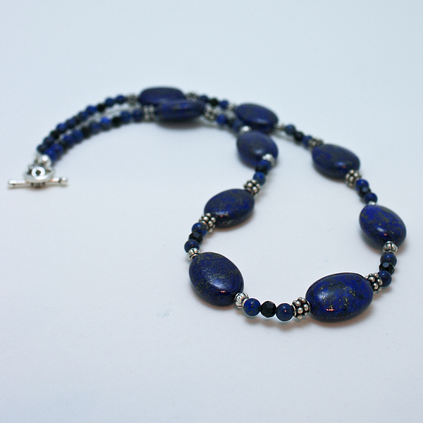 Homemade Jewelry - 3553 Lapis Lazuli Necklace And Earrings Set by Teresa Mucha